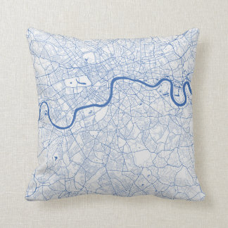 Cushion London urban Pattern BLUE