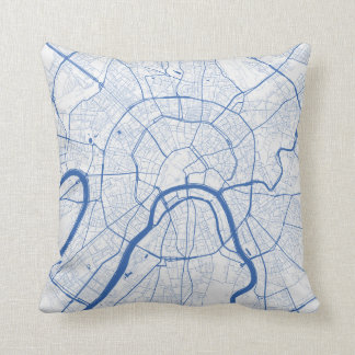 Cushion Moscow urban Pattern BLUE