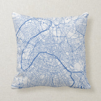 Cushion Paris urban Pattern BLUE