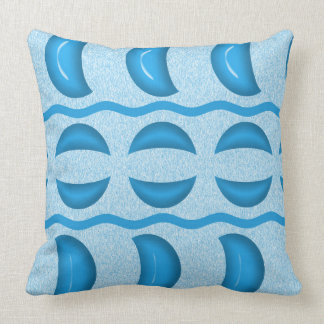 Cushion Polyester Square Blue