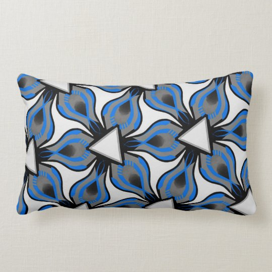 Cushion rect. Jimette white gray Turquoise Design