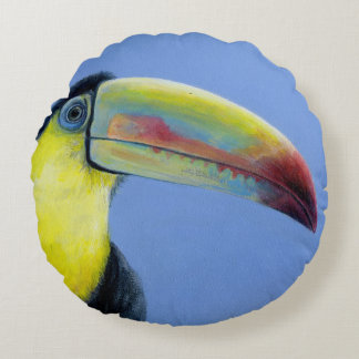 "Cushion South American bird, toucan ""chill out"""