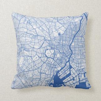 Cushion Tokyo urban Pattern BLUE