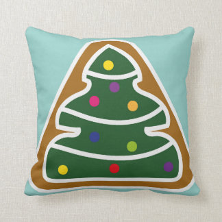 Cushion with a gingerbread christmas tree