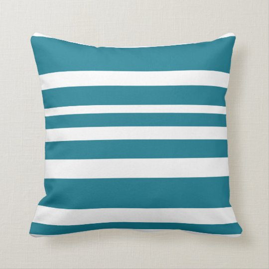Cushion with Horizontal Stripss - Blue
