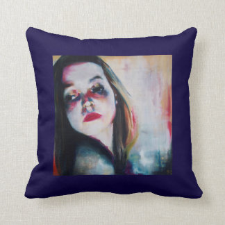 Cushion with painting by Jennifer Baumeister
