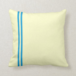 Cushions with Two Blue Stripes