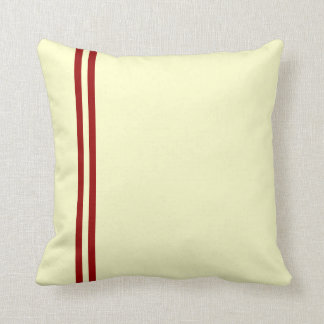 Cushions with Two Red Stripes