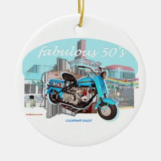 Cushman_Eagle_Blue Christmas Ornament