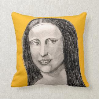 CushyCushions Happy Mona Lisa Cushion