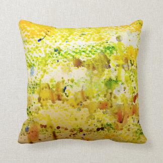 CushyCushions Knit One Purl One Cushion Yellow