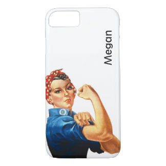 Cusom Vintage Modern Rosie the Riveter iPhone 7 Case