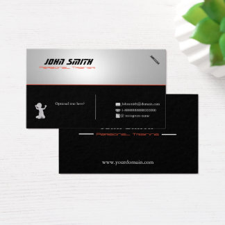 Cusomizable Personal Trainer Business Card