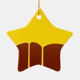 Custard And Chocolate Pudding Ceramic Star Decoration