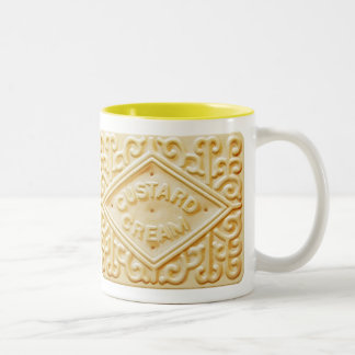 custard cream biscuit or cookie coffee mug