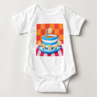 Custard Cream Tea Baby Bodysuit