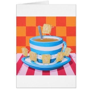 Custard Cream Tea Card