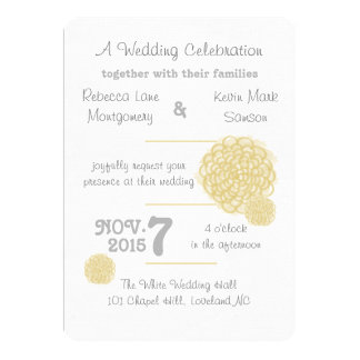 Custard Hydrangea Wedding Invitations