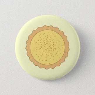 Custard Tart Pie. 6 Cm Round Badge