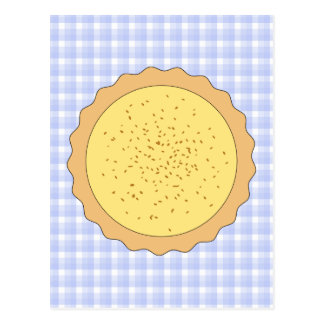 Custard Tart Pie. Postcard
