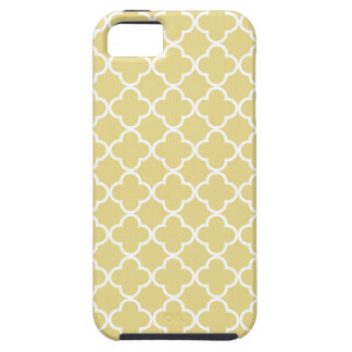 Custard Yellow and White Quatrefoil Moroccan Patte iPhone 5 Cases