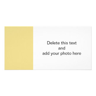 Custard Yellow High End Solid Color Custom Photo Card