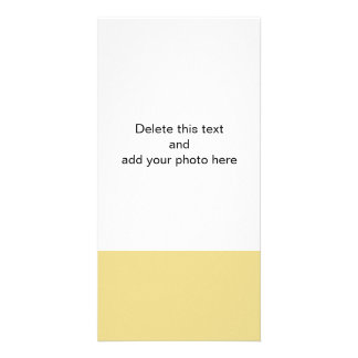Custard Yellow High End Solid Color Picture Card