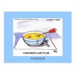 Custards Last Flan Funny Cartoon Postcards
