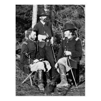 Custer & Friends, 1860s Postcard