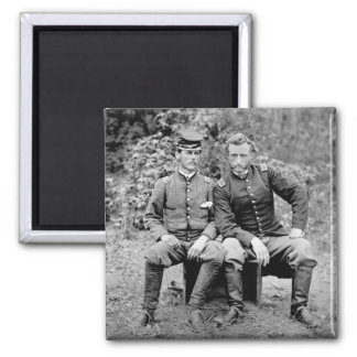Custer & Prisoner, 1862 Square Magnet