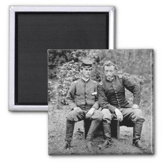 Custer & Prisoner, 1862 Square Magnet