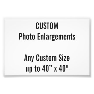 "Custom 100x100mm Photo Enlargement up to 40""x40"""