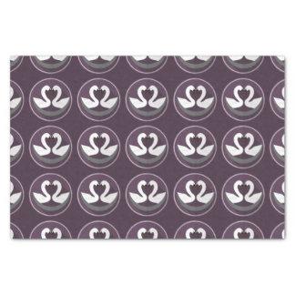 Custom 10lb Tissue Paper LOVE SWANS