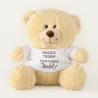"Custom 11"" Teddy Bear Toy Template DADDY O' HIP"