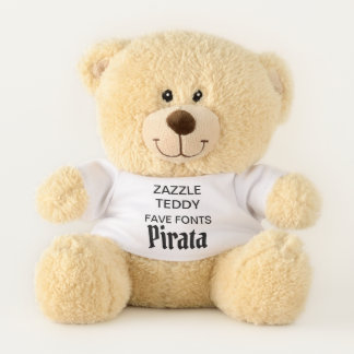 "Custom 11"" Teddy Bear Toy Template PIRATA"