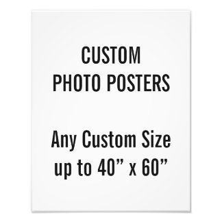 "Custom 11"" x 14"" Photo Poster, up to 40"" x 60"""
