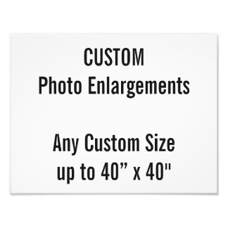 "Custom 13""x10"" Photo Enlargement up to 40""x40"""