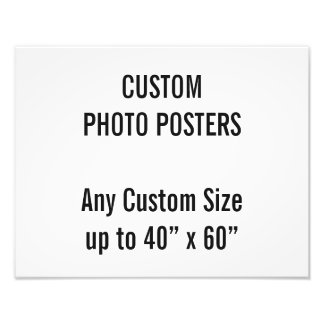 "Custom 14"" x 11"" Photo Poster, up to 40"" x 60"""