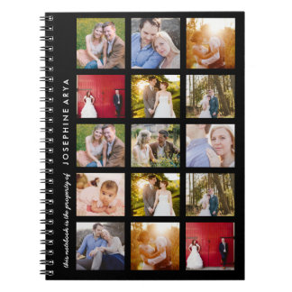 Custom 15 Photo Spiral Notebook Journal