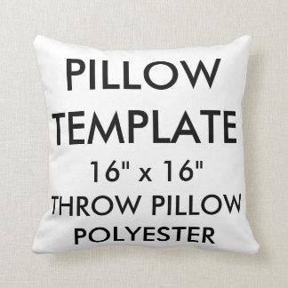 "Custom 16""x16"" Polyester Throw Pillow Template"