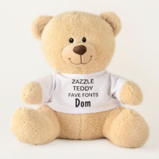 "Custom 17"" Teddy Bear Toy Template DOM"