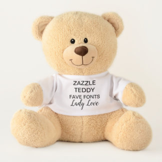 "Custom 17"" Teddy Bear Toy Template LADY LOVE"