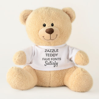 "Custom 17"" Teddy Bear Toy Template SATISFY"