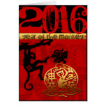 Custom 2016 Year of The Monkey Chinese New Year Greeting Card