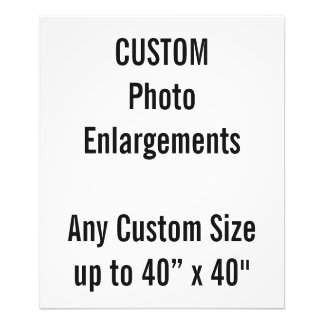 "Custom 20""x24"" Photo Enlargement up to 40""x40"""