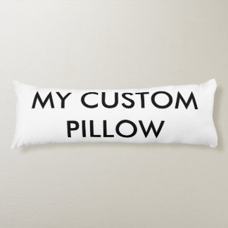 "Custom 20""x54"" Polyester Body Pillow Template"