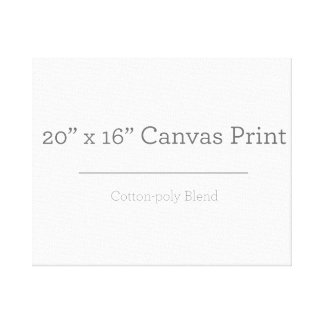 Custom 20 X 16 Canvas Gallery Wrap Canvas
