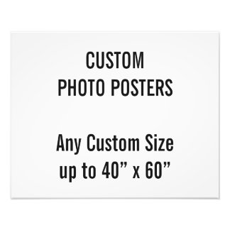 "Custom 20"" x 16"" Photo Poster, up to 40"" x 60"""