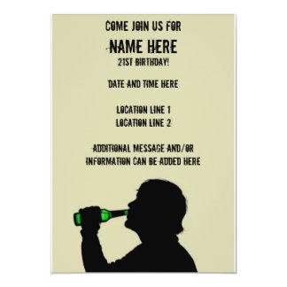 "Custom 21st Birthday Party Invitations 5"" X 7"" Invitation Card"