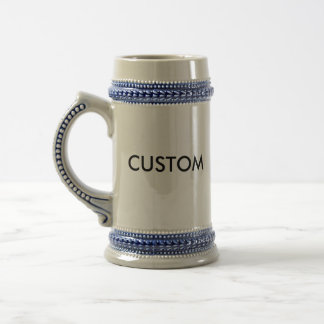 Custom 22oz Traditional Beer Stein GRAY & BLUE